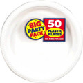 Big Party Pack Small 7 Inch Dessert Plastic Plates - White