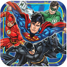 Justice League Large 9 Inch Square Lunch Dinner Plate