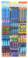 Monsters University Light-blue/Dark-blue/Orange Wooden Pencils Pack of 12