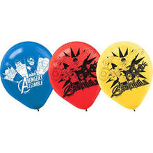 Avengers Assemble Pack of 6 Latex Helium Quality Balloons