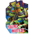 Teenage Mutant Ninja Turtles Pack of 8 Invitations