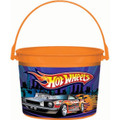 Hot Wheels Plastic Favor Bucket Container ( 1pc ) Orange