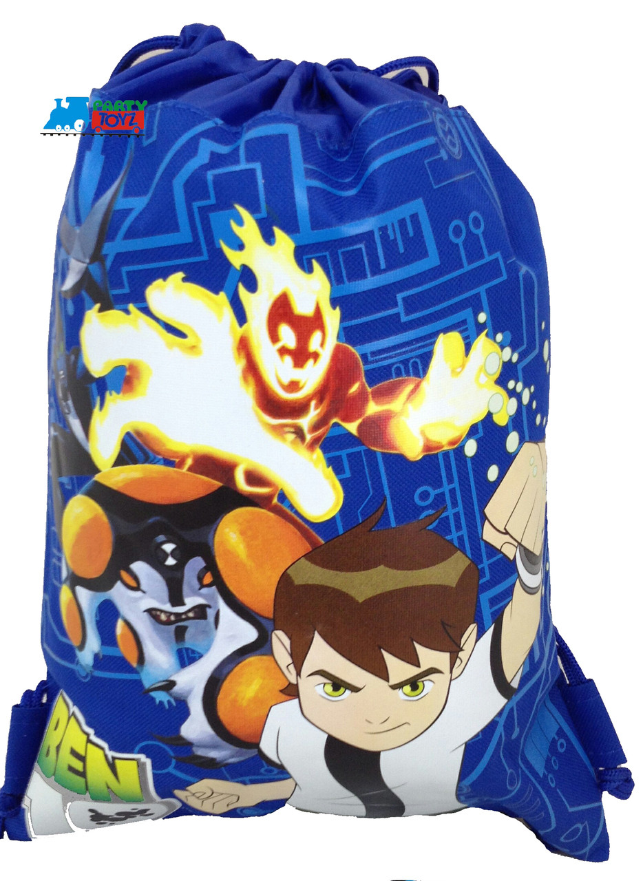 Drawstring Bag - Ben 10 Blue Cloth String Bag