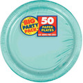 Big Party Pack Large 9 Inch Paper Plates - Robin's Egg Blue