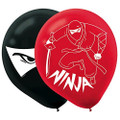 Ninja Pack of 6 Latex Helium Quality Balloons