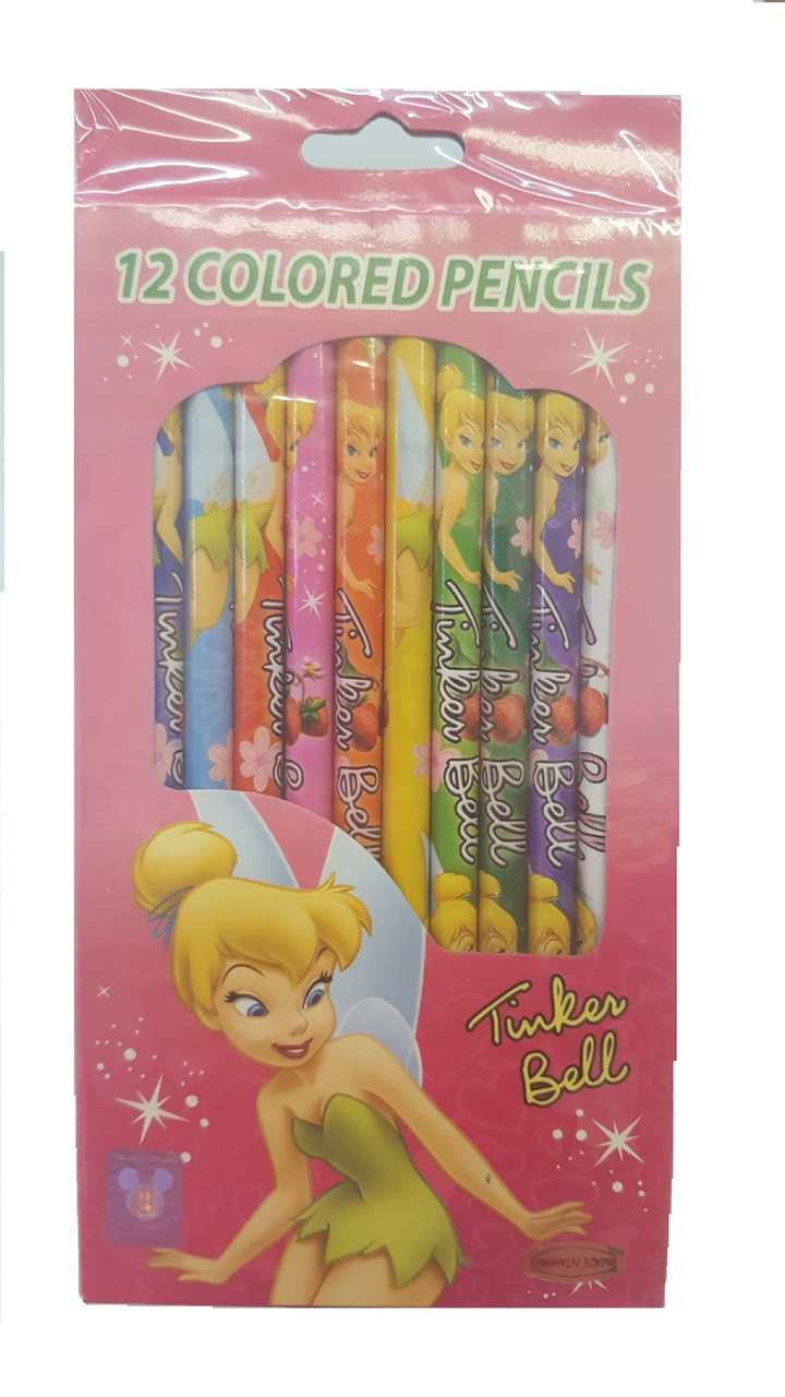 Tinkerbell Pack of 12 Colored Pencils
