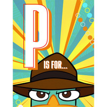 Phineas and Ferb Agent P Perry Pack of 8 Invitations