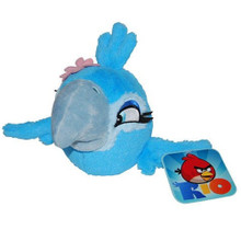 Angry Birds Space Rio 5 Inch  Plush Stuffed Toy No Music - Blue Macaw Jewel