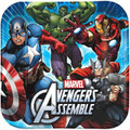 Avengers Assemble Large 9 Inch Square Lunch Dinner Plates