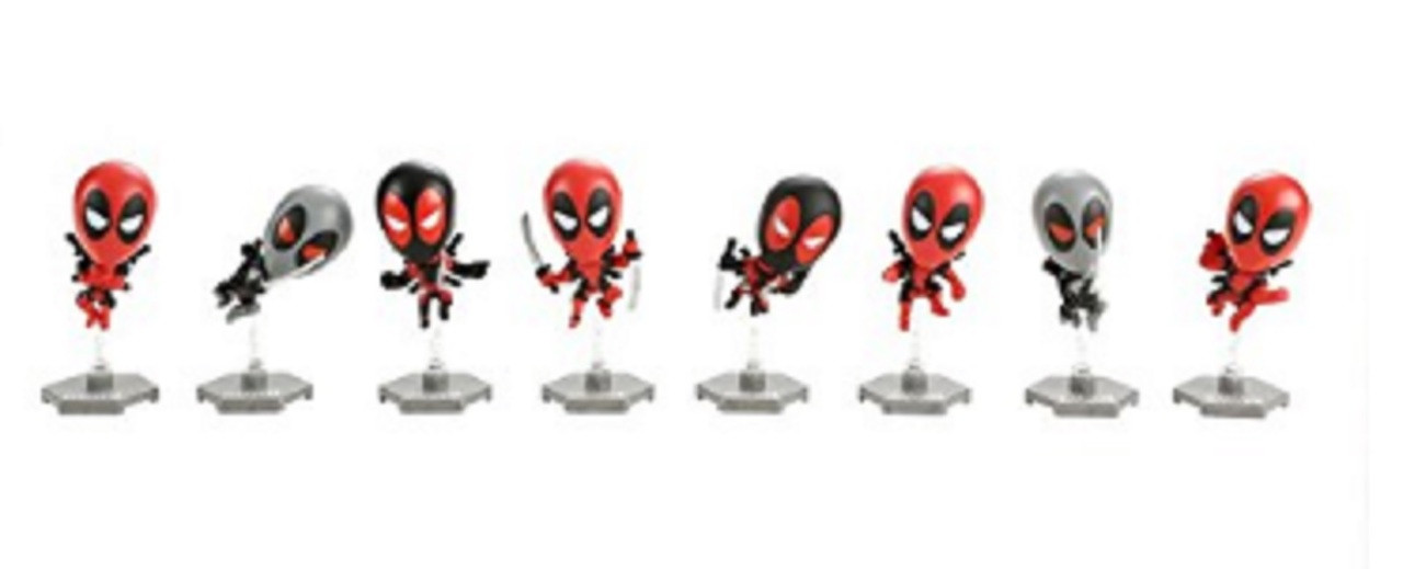 Deadpool Chimichanga Bobble Head Bag Plastic Toy Figures (1 Blind Bag)