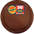 Big Party Pack Small 7 Inch Paper Plate - Chocolate Brown