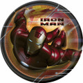 Marvel Iron Man Round Small 7 Inch Party Cake Dessert Plates