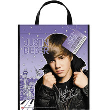 Justin Bieber Plastic Large Party Tote Gift Bag