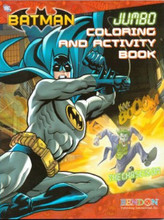 Batman Jumbo 96 pg. Coloring And Activity Book Red -The Chase Is On