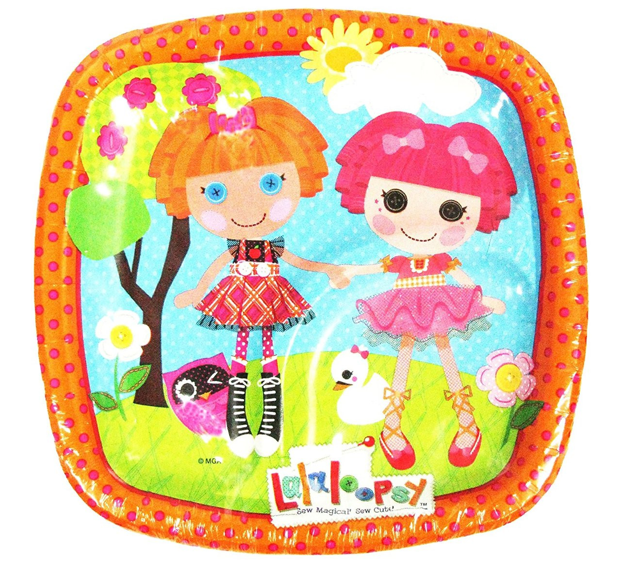 Lalaloopsy Small 7 Inch Party Cake Dessert Plates - Orange