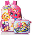 Shopkins Large Backpack with Detachable Lunch Box Pink / Purple