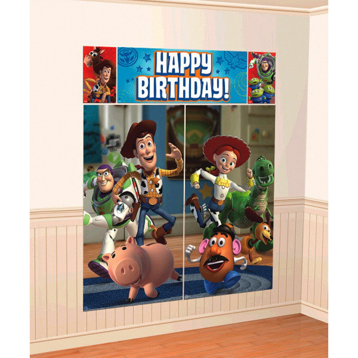 Amscan Jessie Scene Toystory Wall Decorating Kit Partytoyz