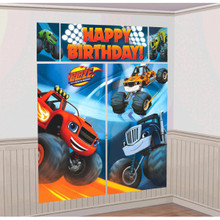 Blaze and the Monster Machines Giant Scene Setter Wall Decorating Kit