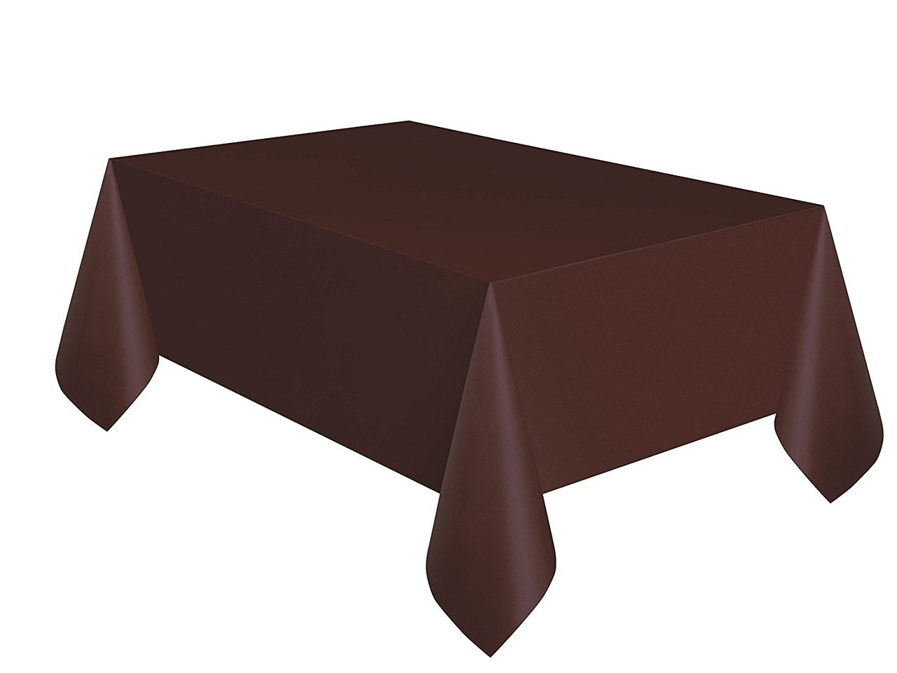 Solid Color Plastic Tablecover Table Cover - Brown