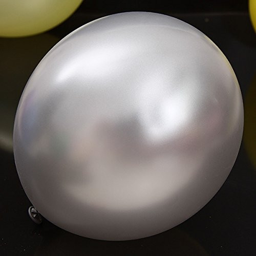 Round 24 Inch Latex Helium Quality Balloons - Silver