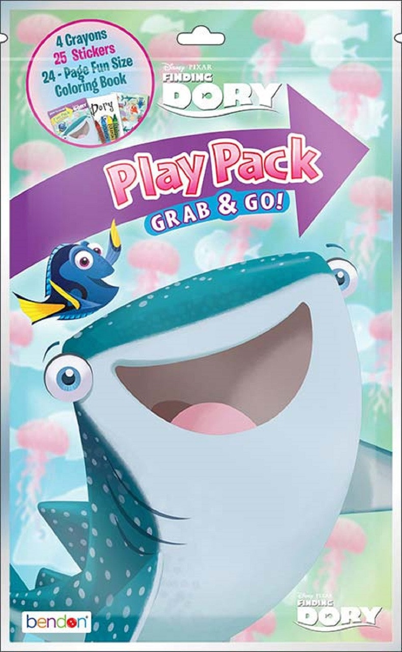 Finding Dory Grab and Go Play Pack Party Favors - with Whale