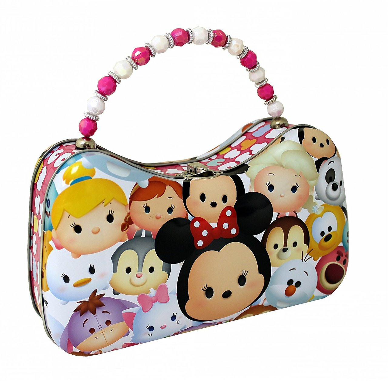 Tsum Tsum Tin Purse with Beaded Handle - Friends