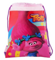 "Trolls Poppy 10"" X 14"" Drawstring Backpack Heavy Duty Nylon Tote Bag Color"