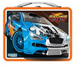 "Hot Wheels Square Carry All Tin Lunch Stationery Box - ""Racing"""
