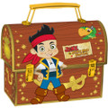 Jake and the Neverland Pirates Rounded Rectangular Tin Pencil Case - Brown map