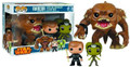 Funko Pop! Star Wars Rancor w/ Luke Skywalker & Slave Oola Vinyl PX Previews Ex.