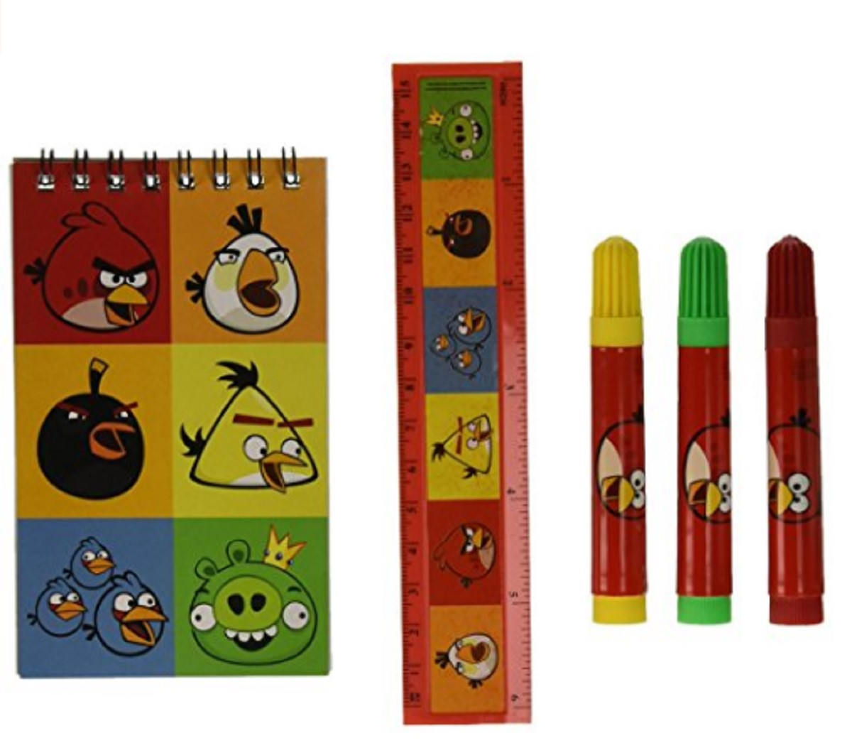 Angry Birds 5 Pc Stationery Set Stationary