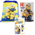 Minions Yellow Cloth String Bag/Book Mischievous/Grab and Go Play Pack For Boys