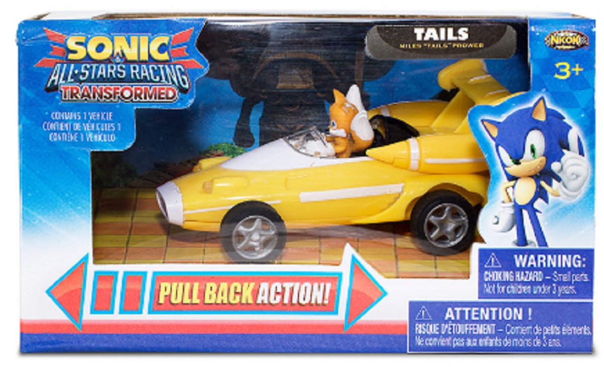 Sonic All Stars Racing Pull Back Action - Tails