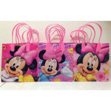 Minnie Mouse Party Favor Goodie Medium Gift Bags 12