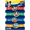 Mickey Mouse  Pack of 4 Rubber Bracelets