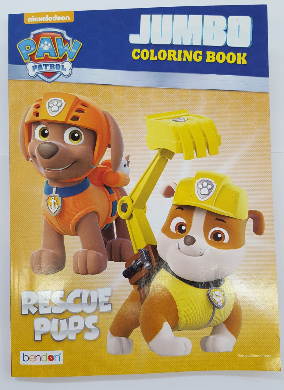 Coloring Book Paw Patrol C A 96p Rescue Pups