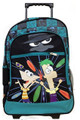 Phineas and Ferb Large 16 Inch Rolling Backpack