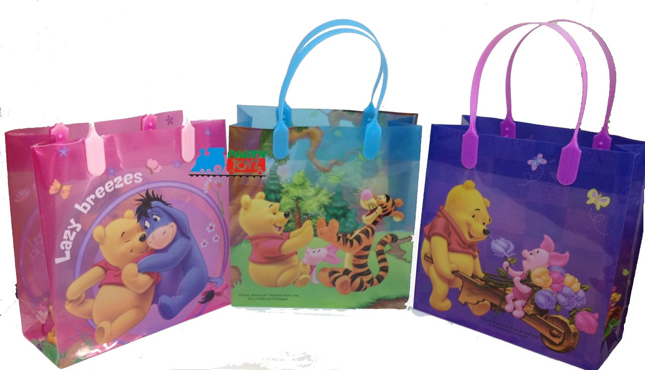Winnie Pooh Party Favor Goodie Medium Gift Bags 12
