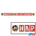 Mickey Mouse Clubhouse Plastic Banner (Happy Birthday)