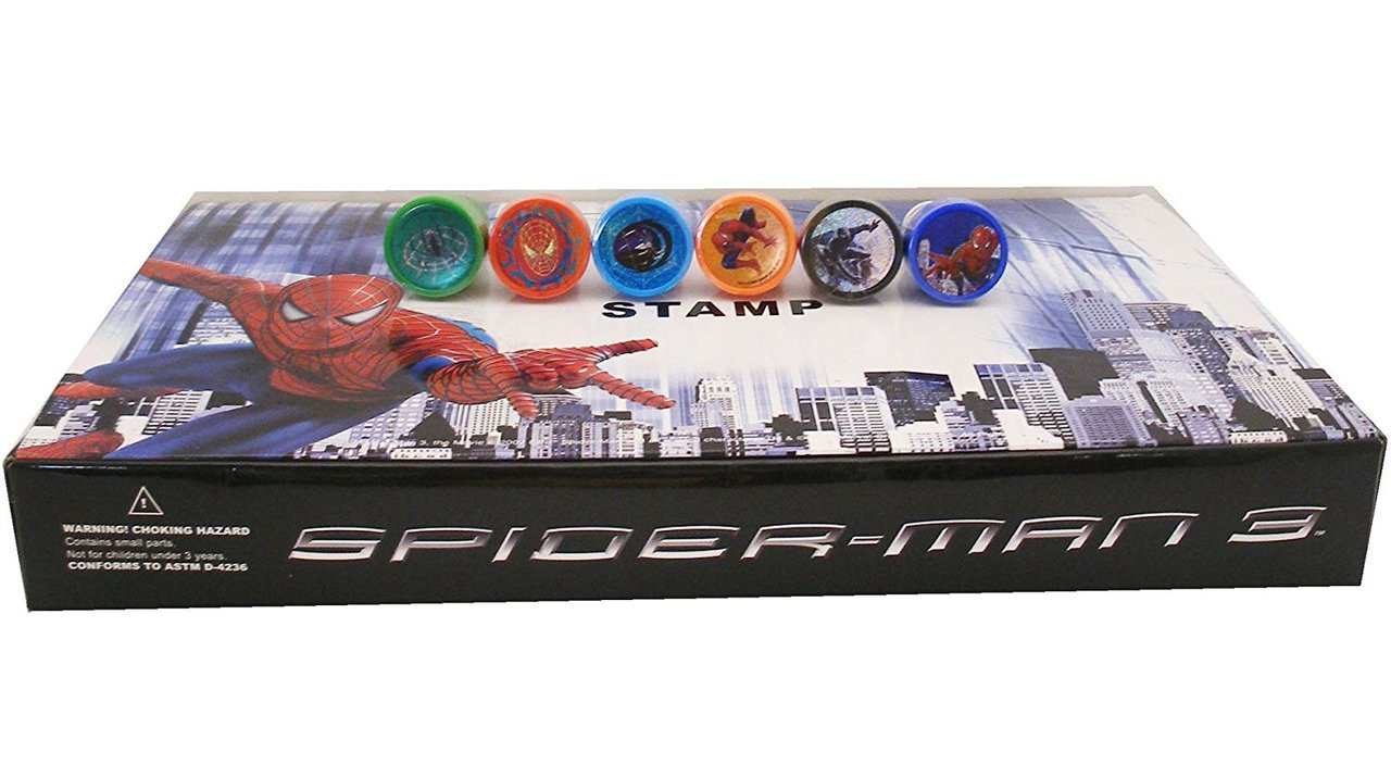 Superman Character Authentic Licensed 10 Assorted Stampers Party Favors