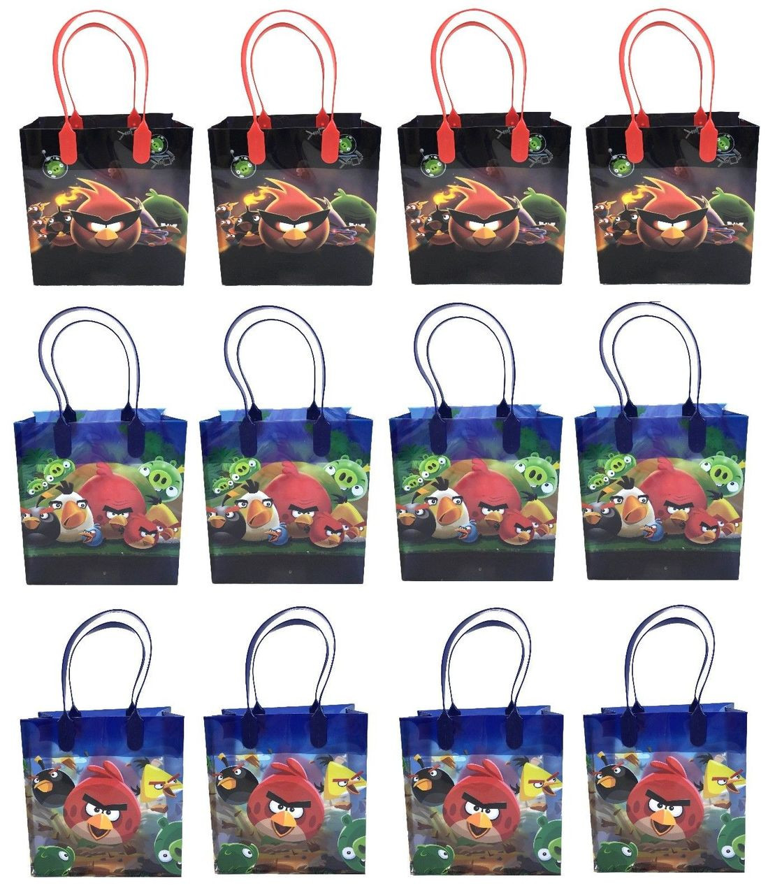 Angry Birds Party Favor Goodie Medium Gift Bags 12