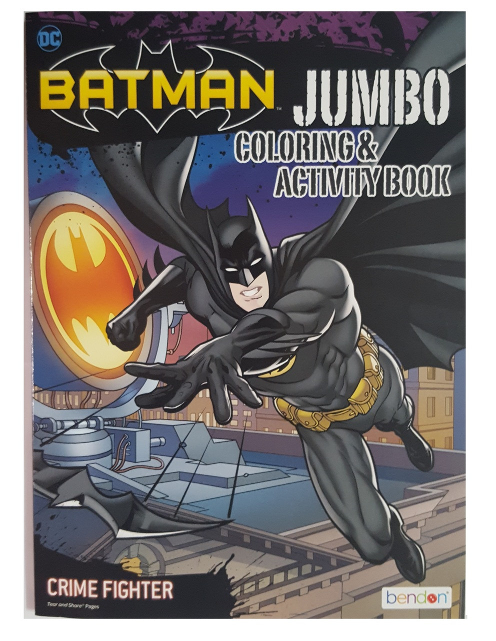Batman 96P Jumbo Coloring and Activity Book -Crime Fighter