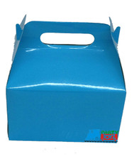 12X Solid Color Medium Blue Paper Treat Boxes