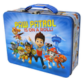"Paw Patrol Square Carry All Tin Lunch Stationery Box - ""On a Roll"""
