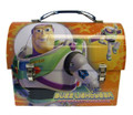 Toy Story Woody Buzz Jessie Dome Carry-All Workmans Tin - Orange