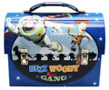 Toy Story Woody Buzz Jessie Dome Carry All Workman's Tin Box - Blue