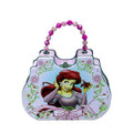 Princess Ariel Little Mermaid Tin Clutch Purse with Beaded Handle - Pink Dress