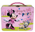 Minnie Mouse Square Tin Stationery or Small Lunch Box - with Puppy