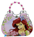 Princess Ariel Little Mermaid Tin Box Carry All Clutch Purse with Beaded Handle