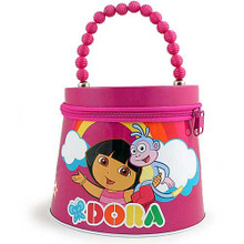 Dora the Explorer Beaded Tin Purse  - Hot  Pink